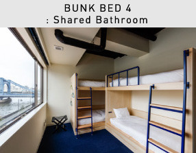 BUNK BED 4: Shared Bathroom, River View